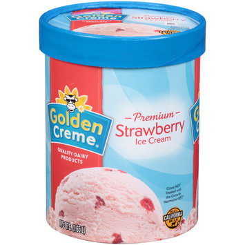 Golden Creme® Premium Strawberry Ice Cream 1.75 qt. Tub