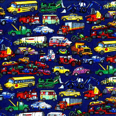 Stwd Vehicles Galore Travel Crib Light Fitted Sheet