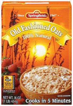 Springfield Old Fashioned Oats 100% Natural Oatmeal 1 Lb Box