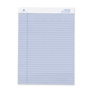 Sparco Products Colored Pad, Legal Rule,50 Sheets,8-1/2