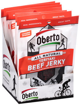 Oberto® All Natural* Teriyaki Beef Jerky 8-1.5 oz. Bags