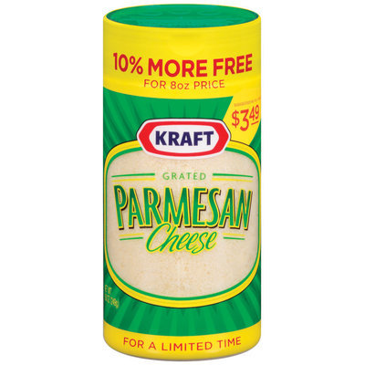 Kraft Grated Cheese Grated Parmesan 10% More Free $3.49 Pp Cheese 8.8 Oz Shaker