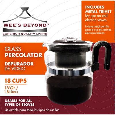 Wee's Beyond Stove Top Percolator Coffee Maker