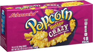 Schnucks® Butter Crazy® Movie Theatre Microwave Popcorn 59.4 oz. Box