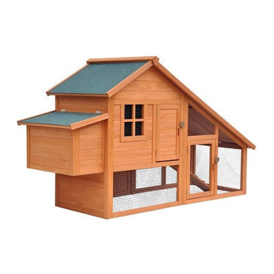August Grove Philomena Habitat Chicken Coop with Nesting Box