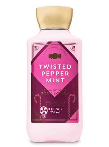 Bath & Body Works® Signature Collection TWISTED PEPPERMINT Super Smooth Body Lotion