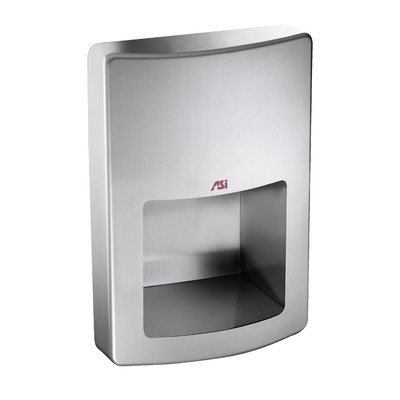 American Specialties Roval Recessed 120 Volt Hand Dryer in Stainless Steel