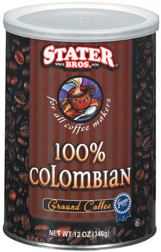 Stater Bros. 100% Colombian Ground Coffee 12 Oz Canister