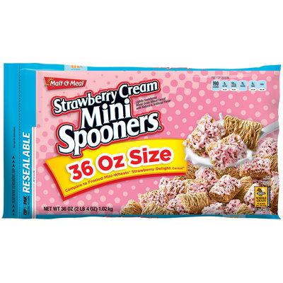 Malt-O-Meal® Strawberry Cream Mini Spooners® Cereal 36 oz. ZIP-PAK®
