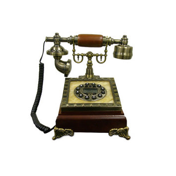 Ore International T0630BRN Classic Telephone - Brown