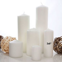 Light In The Dark Candles 2 in. Wide x 6 in. Tall Unscented White Pillar Candle (Set of 4) LITD-W-PILLAR-2x6SET4