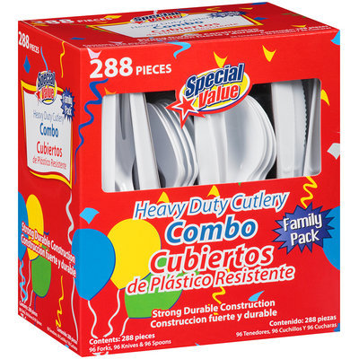 Special Value® Heavy Duty Cutlery Combo Family Pack 288 ct Box