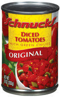 Schnucks Diced W/Green Chilies Original Tomatoes 10 Oz Can