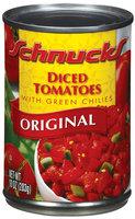 Schnucks Diced W/Green Chilies Original Tomatoes 10 Oz Can