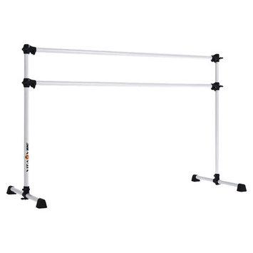 Vitavibe Prodigy Series Modern Aluminum Double Bar Ballet Barre Size: 7 ft.