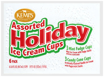 KEMPS® Assorted Holiday Ice Cream Cups 6 ct.