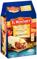 El Monterey Signature Shredded Steak & Cheese Burritos 14 ct Bag