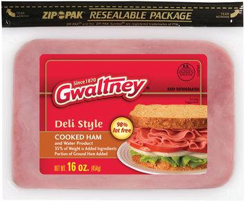 Gwaltney® Deli Style Cooked Ham 16 oz. ZIP-PAK®