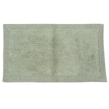 Textile Decor Castle 2 Piece 100% Cotton Bella Napoli Reversible Bath Rug Set, 24 H X 17 W and 34 H X 21 W
