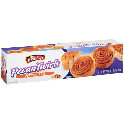 Mrs. Freshley's® Pecan Twirls® Sweet Rolls 8-1 oz. Packs