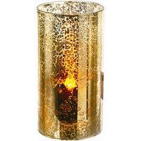 Regency International LED Glass Candle (Set of 4) Color: Gold, Size: 3