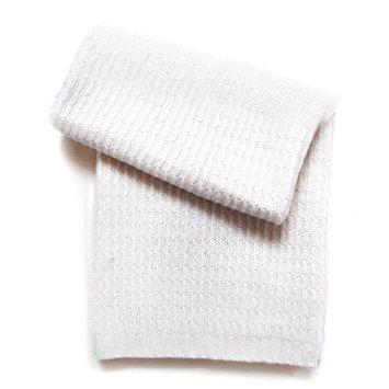 Esteffi Seed Stitch Wool Blend Baby Blanket (Set of 2) Color: Ivory