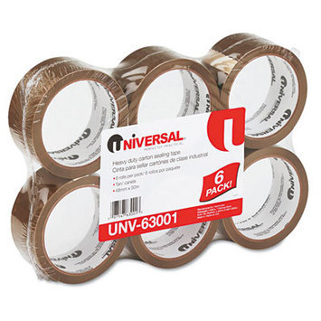 Universal Products Heavy-Duty Box Sealing Film Tape in Tan