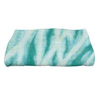 Bay Isle Home Grove City Shibori Geometric Print Bath Towel Color: Teal