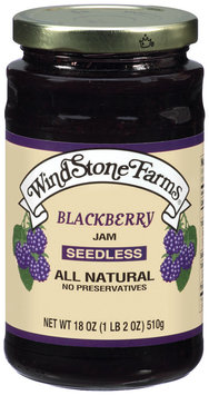 Windstone Farms Blackberry Seedless Jam 18 Oz Jar
