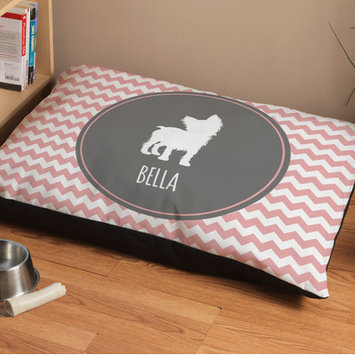 Checkerboard Personalized Yorkshire Terrier Chevron Pattern Dog Bed