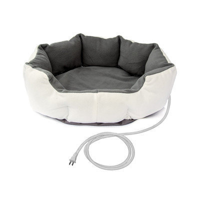 Aleko Warm Soft Heated Pet Bed Size: Medium (26