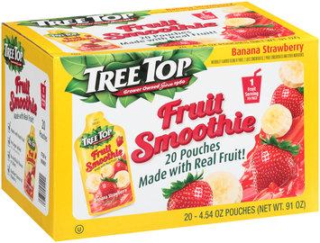 Tree Top® Banana Strawberry Fruit Smoothie 20-4.54 fl. oz. Pouches