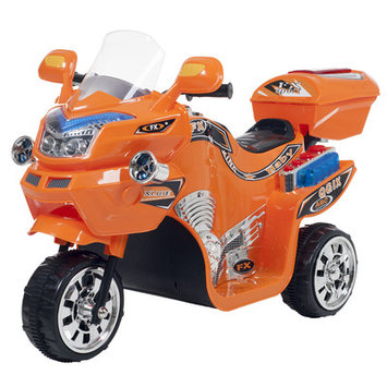 Trademark Global Games Lil Rider 3-wheel Orange FX Battery Operated Motorcycle