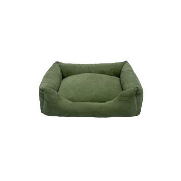 Iconic Pet Luxury Swaddlez Bolster Pet Bed Color: Moss, Size: X Large - 30