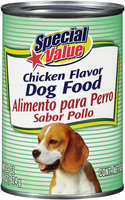 Special Value Chicken Flavor Dog Food 22 oz Can