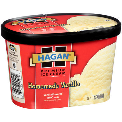 Hagan® Homemade Vanilla Premium Ice Cream 1.5 qt. Tub