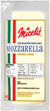 Miceli's Mozzarella Natural Low Moisture Cheese