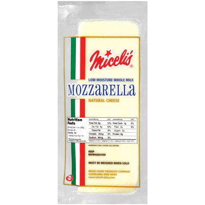 Miceli's Mozzarella Natural Low Moisture Cheese