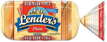 Lender's Frozen New York Style Plain 5 Ct Bagels 16.5 Oz Bag
