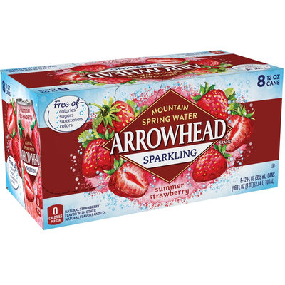Arrowhead Strawberry Sparkling Mountain Spring Water Pack