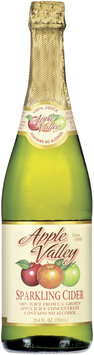 APPLE VALLEY Sparkling Cider 100% Juice 25.4 OZ GLASS BOTTLE