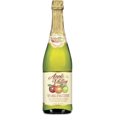 APPLE VALLEY Sparkling Cider 100% Juice 25.4 OZ GLASS BOTTLE