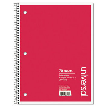 Universal Wirebound Notebook, College Ruled (70 Sheets)