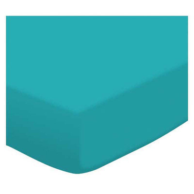 Stwd Jersey Knit Travel Crib Light Fitted Sheet Color: Teal