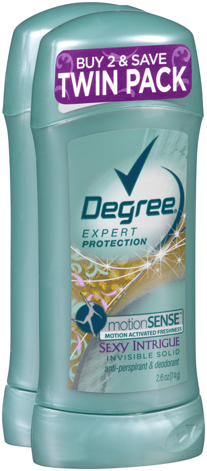 Degree Women® Extra Protection Anti-Perspirant & Deodorant Sexy Intrigue Invisible Solid Stick Twin Pack 2-2.6 oz.