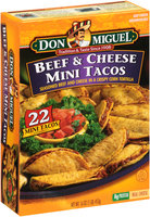 Don Miguel® Beef & Cheese Mini Tacos 22 ct Box