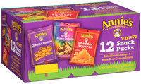 Annie's Homegrown® Variety Snack Packs 8 - 1 oz and 4 - .75 oz. Packs