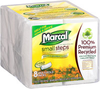 Marcal® Small Steps® M-Fold Standard Dispenser Size 8 Multi-Fold Packs 2000 ct 1 Ply Paper Towels Wrapper
