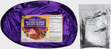 Spiral Cut Double Glazed Brown Sugar Premium Smoked Ham with Natural Juices