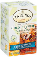 Twinings® Refreshing Cold Brewed Citrus Twist Iced Tea 20 ct. Box